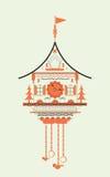 Cuckoo clock flat style doodle Stock Photos