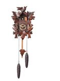 Cuckoo Clock Isolated on a White Background Stock Photo