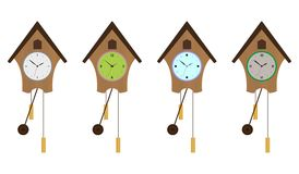 Cuckoo-clock set. EPS 10 Royalty Free Stock Images