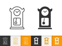 Cuckoo Clock simple black line vector icon stock illustration