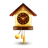 Cuckoo-clock  on white vector Stock Images