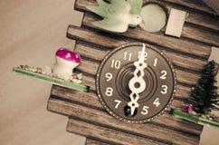 cuckoo wall clock, six o'clock Royalty Free Stock Photography