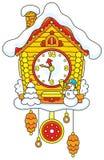 Cuco-reloj de la Navidad Foto de archivo