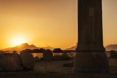 Cucoloris av Persepolis fördärvar, Shiraz Iran Arkivbilder