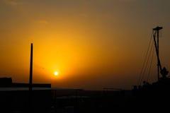 The cucoloris of Jaisalmer city at sunset Stock Photos