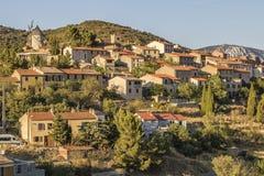 Cucugnan, Francia imagen de archivo