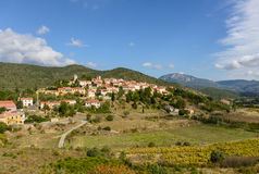 Cucugnan, picturesque village in Languedoc-Roussillon Royalty Free Stock Image