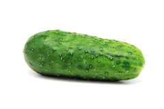 Cucumbe auf einem Weiß Stockfoto