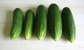 Cucumber. Some cucumber on a desk Stock Photography