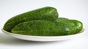 Cucumber. Some cucumber on a plate Royalty Free Stock Photos