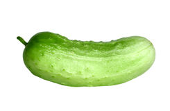 Cucumber. Over white background royalty free stock photo