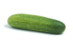 Cucumber. Green cucumber isolated on white background with clipping path stock photo