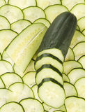 Cucumber. Concept photo of cucumber with slices Stock Images