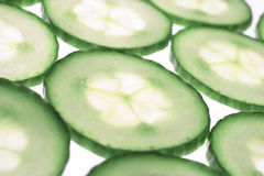 Cucumber. Sliced cucumber royalty free stock photos