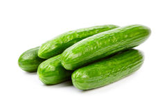 Cucumber. Isolated on white background Royalty Free Stock Photo