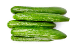 Cucumber. Isolated on white background Royalty Free Stock Photography