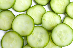 Cucumber. Closeup of green cucumber slices stock images