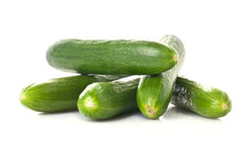 Cucumber. A pile of cucumbers on white background Royalty Free Stock Photos