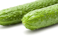 Cucumber. On a white background Stock Photo