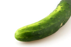 Cucumber. Frish, green cucumber in front of white background Stock Photo