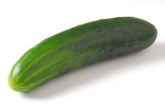 Cucumber. Placed on white background stock photos