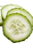 Cucumber. Slices on white background royalty free stock image