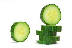 Cucumber. Studio isolated on white white background royalty free stock photo