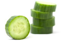 Cucumber. Slices cucumber  isolated on a white background Stock Photo