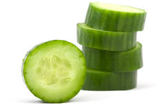Cucumber. Isolated on a white stock images