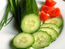 Cucumber And Tomato Stock Photos