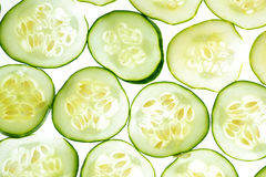 Cucumber background Stock Photos