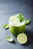 Cucumber and Basil Aqua Fresca with Lime Juice Royalty Free Stock Image