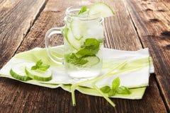 Cucumber basil lemonade. Stock Photos