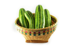 Cucumber in a basket Stock Photography