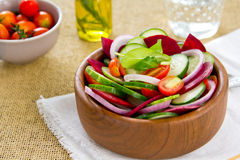 Cucumber and Beetroot salad Royalty Free Stock Image