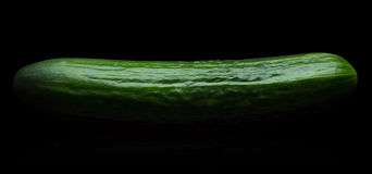 Cucumber on a black background Royalty Free Stock Photo