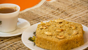Cucumber cake is a traditional goan style steamed cake. Royalty Free Stock Images