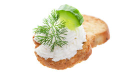 Cucumber canape Stock Photography