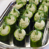 Cucumber canape Royalty Free Stock Image
