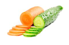 Cucumber and carrot Stock Photography