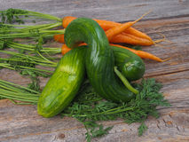 Cucumber and carrots Royalty Free Stock Image