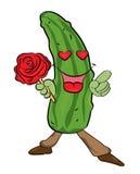 Cucumber cartoon character Stock Photography