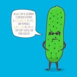 Cucumber cartoon vector character Royalty Free Stock Photo