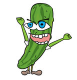 Cucumber character illustration Stock Images