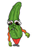 Cucumber character illustration Royalty Free Stock Photo