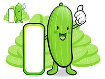 Cucumber characters to promote Vegetable selling. Vegetable Char Royalty Free Stock Photography
