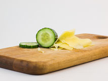 Cucumber and cheese Royalty Free Stock Photography