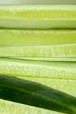 Cucumber Chunks. Close-up of Cucumber Chunks Royalty Free Stock Photos