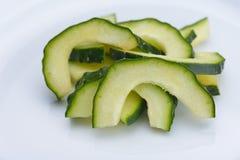 Cucumber closeup Stock Images
