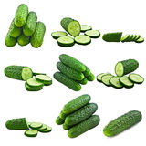 Cucumber collage Royalty Free Stock Photo